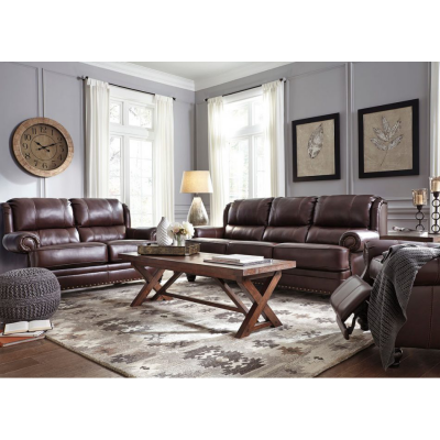 Glengary Leather Living Room Group