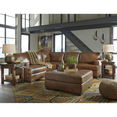 Vincenzo Leather Sectional